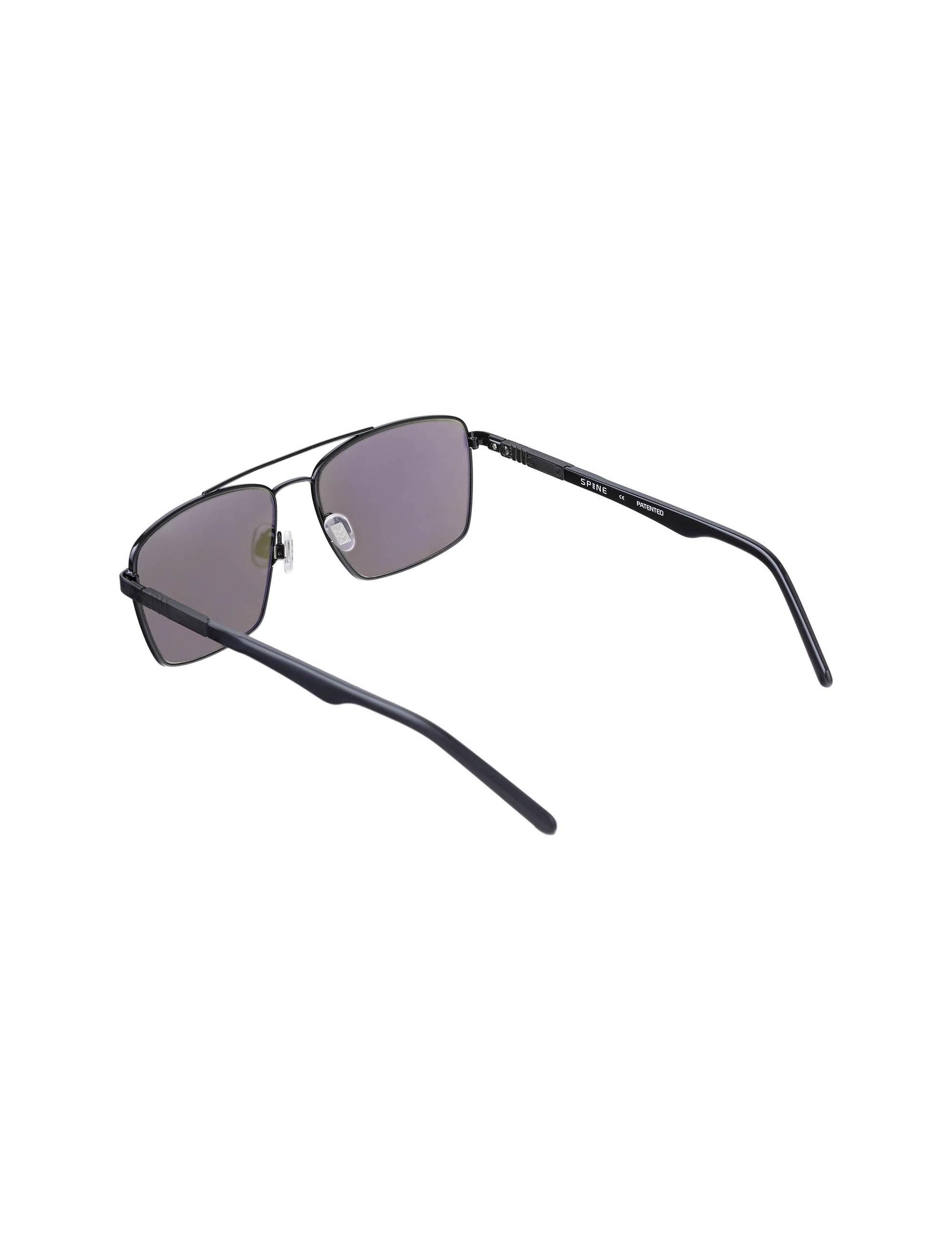 عینک مستطیلی مردانه - مشکي - 3