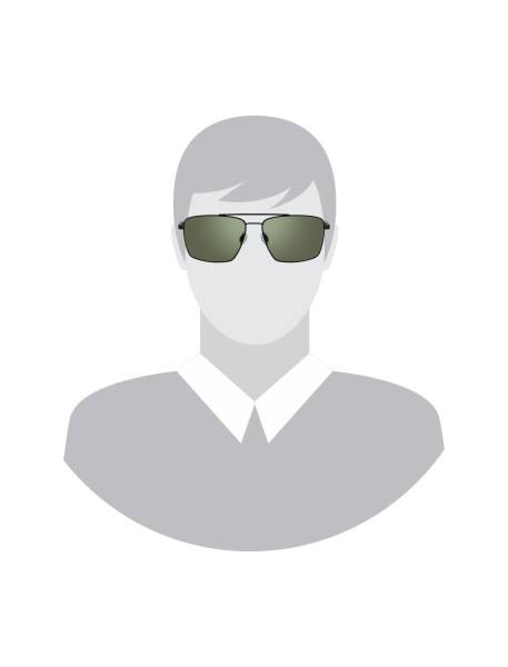 عینک مستطیلی مردانه - مشکي - 5