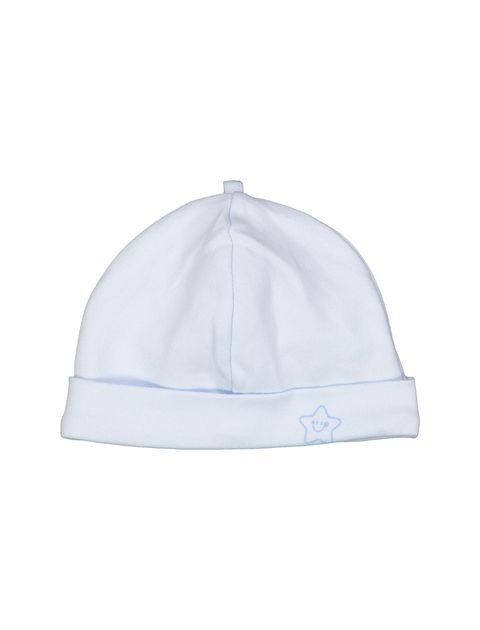 کلاه نخی نوزادی پسرانه - آبي روشن - 1