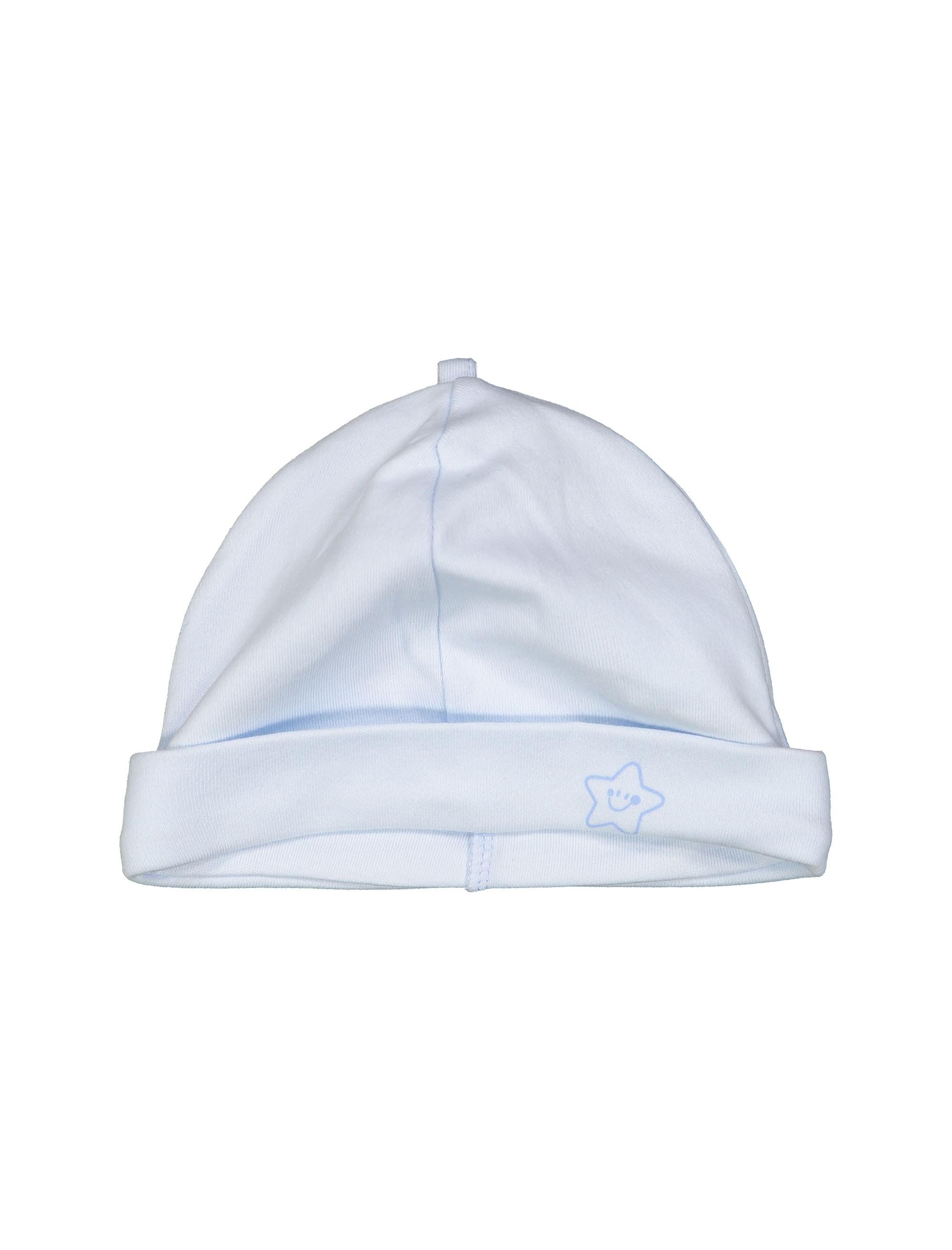 کلاه نخی نوزادی پسرانه - آبي روشن - 3