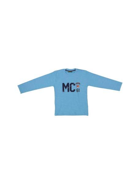 تی شرت نخی یقه گرد پسرانه MC - آبي - 1