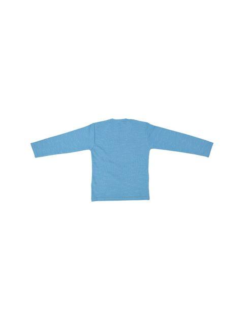 تی شرت نخی یقه گرد پسرانه MC - تدی بیر - آبي - 2