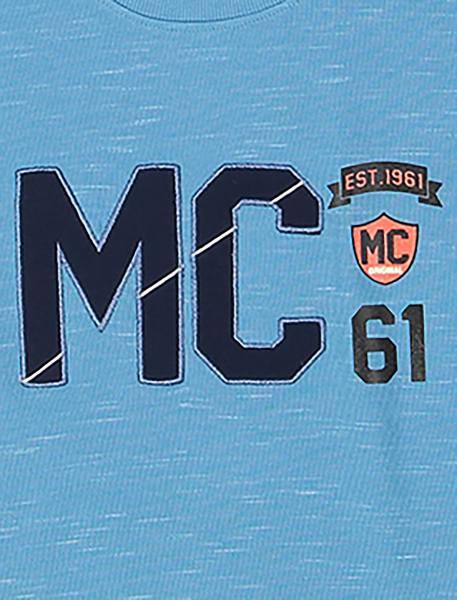 تی شرت نخی یقه گرد پسرانه MC - آبي - 3