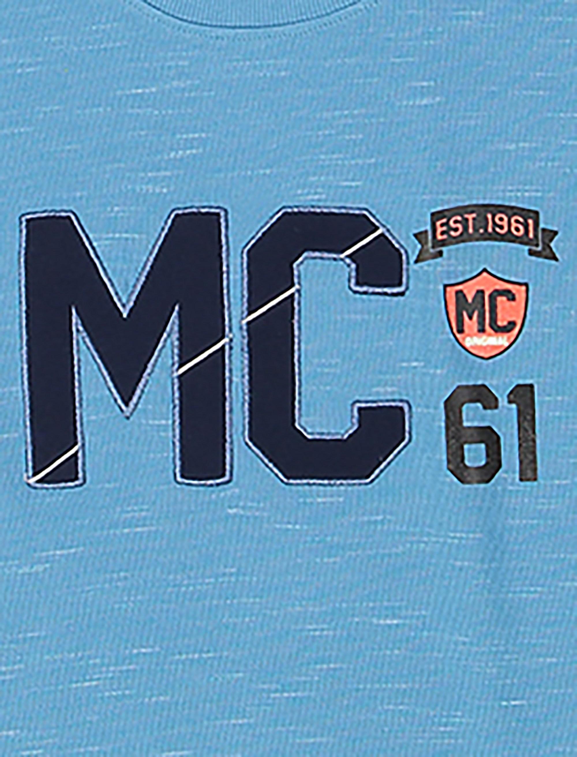تی شرت نخی یقه گرد پسرانه MC - تدی بیر - آبي - 3