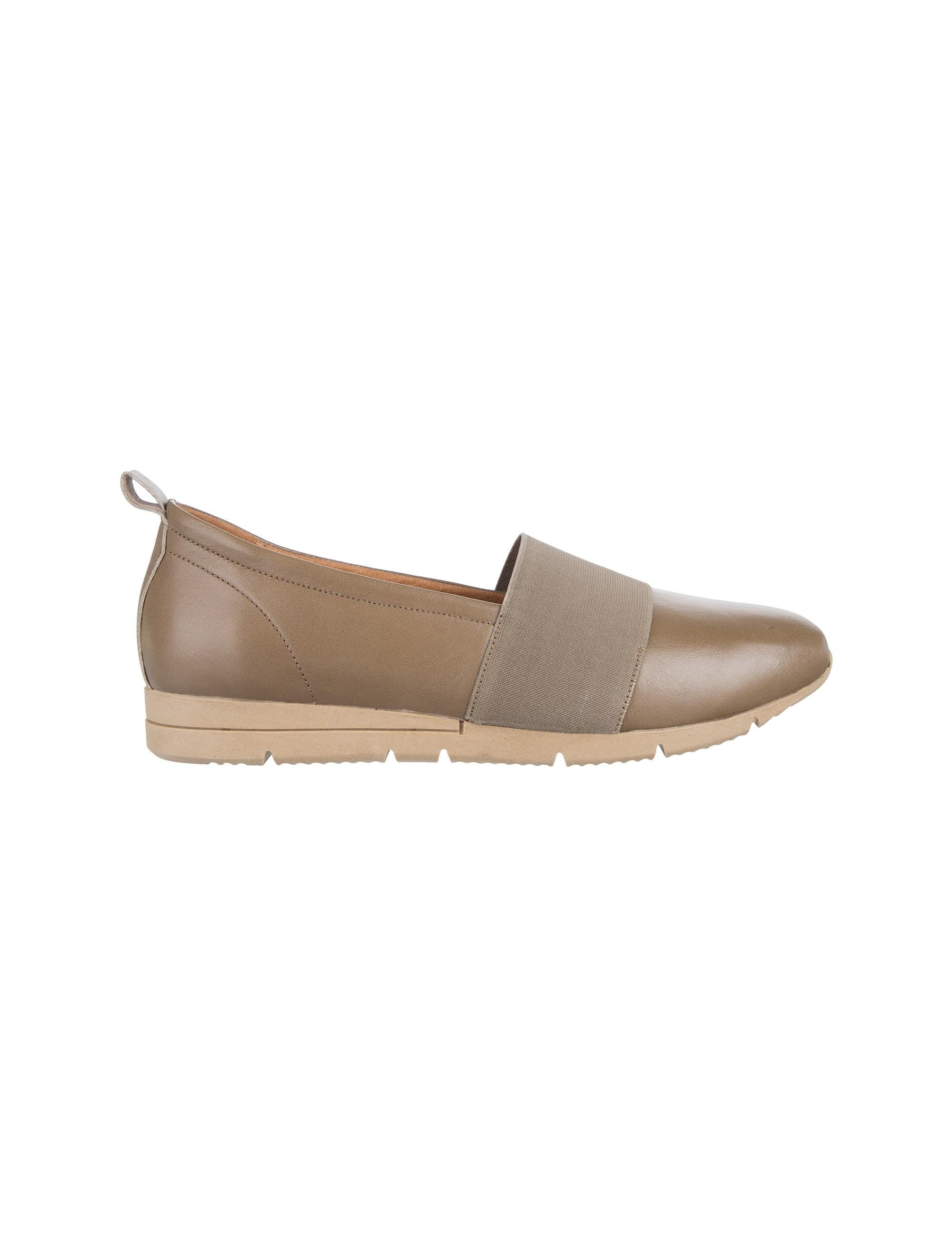 کفش تخت چرم زنانه - برتونیکس