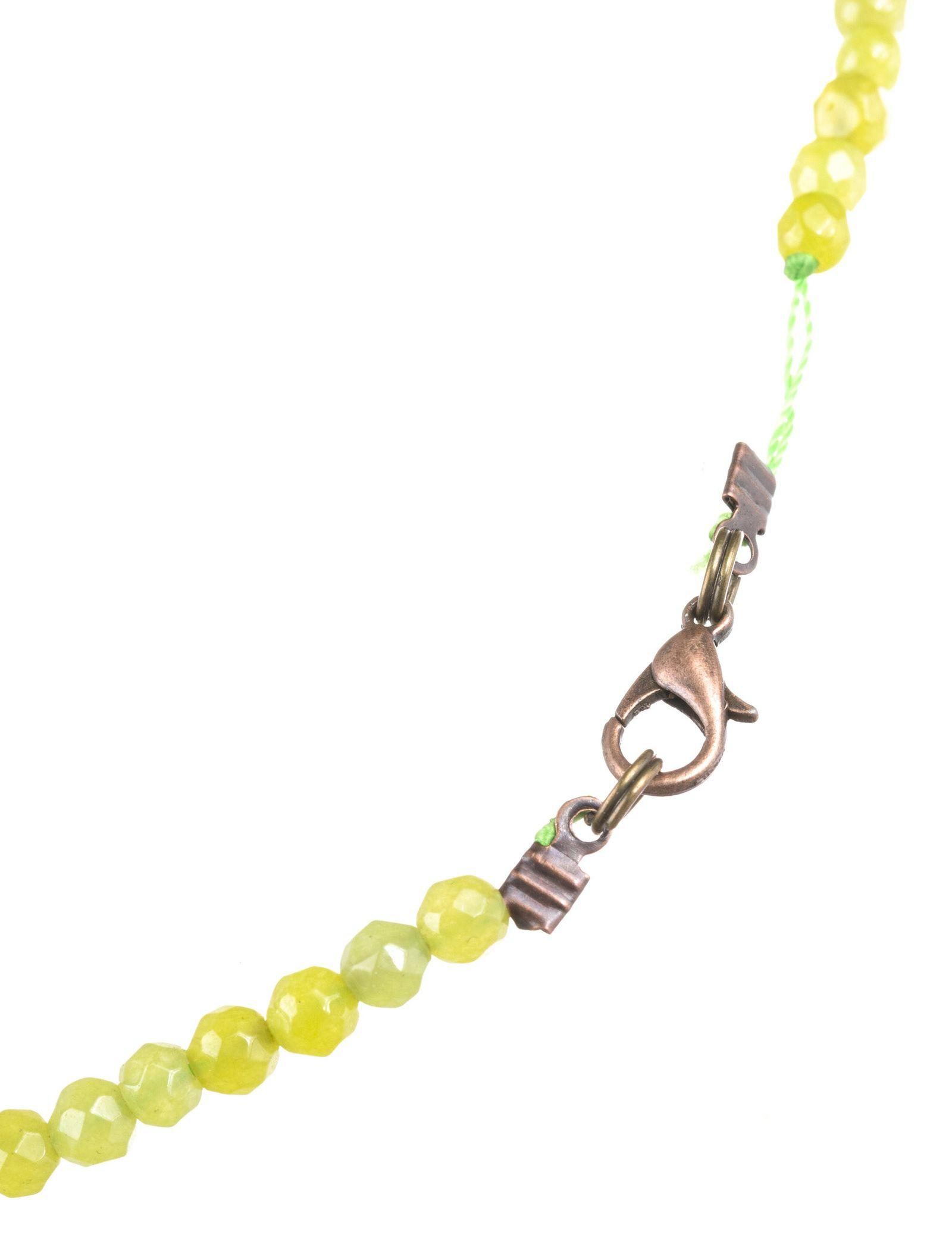 گردنبند آویز زنانه - زرمس تک سایز - سبز روشن - 3