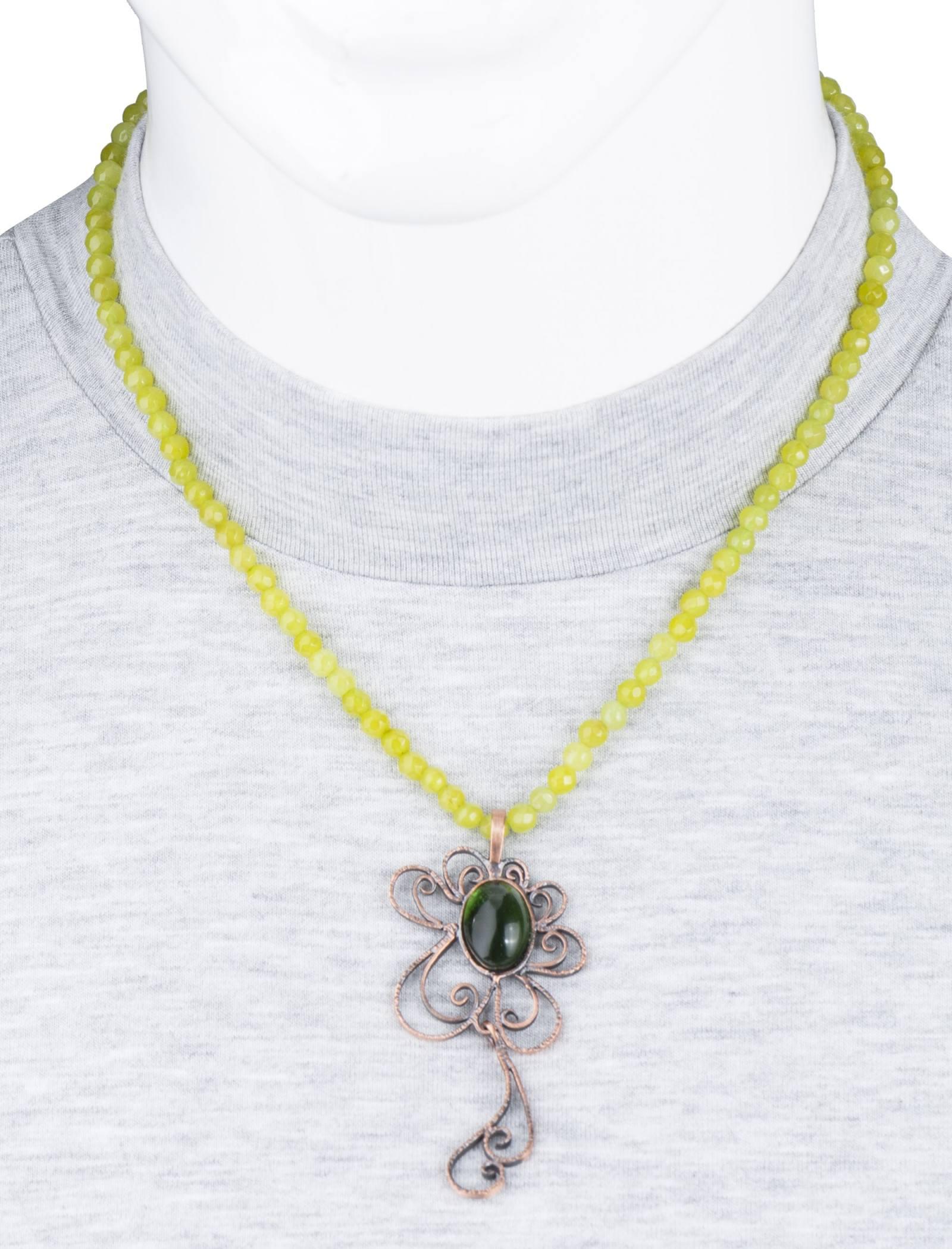 گردنبند آویز زنانه - زرمس تک سایز - سبز روشن - 4