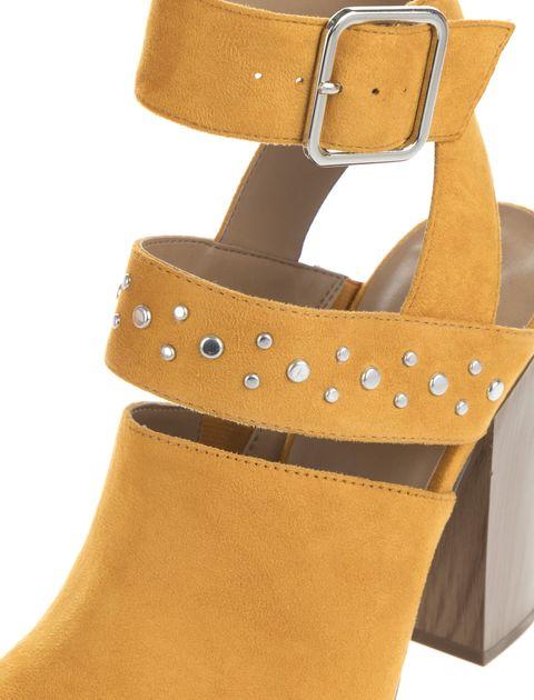 کفش پاشنه بلند پارچه ای زنانه - کال ایت اسپرینگ - خردلي - 6