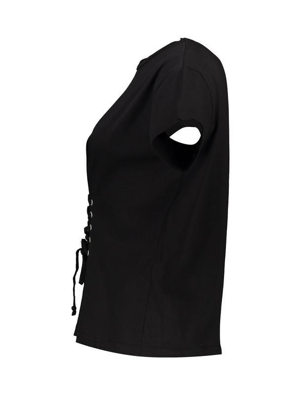 تی شرت نخی یقه گرد زنانه - مل اند موژ