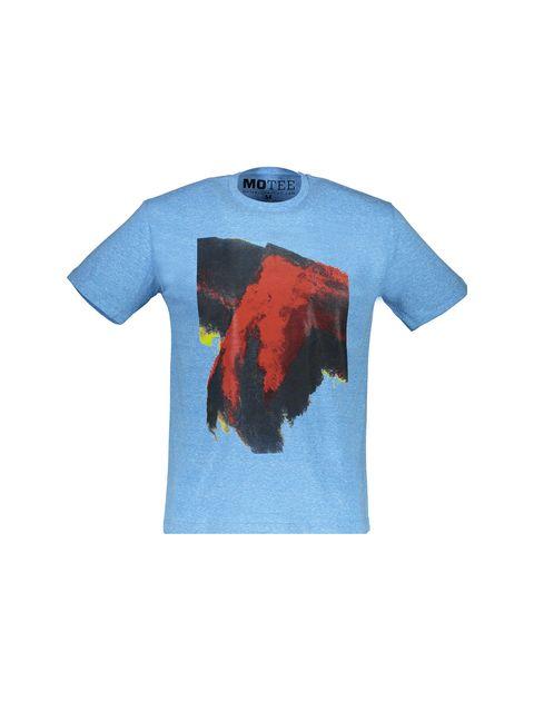 تی شرت یقه گرد مردانه - آبي - 1
