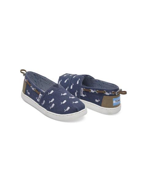 کفش تخت پارچه ای بچگانه - تامز - سرمه اي - 2