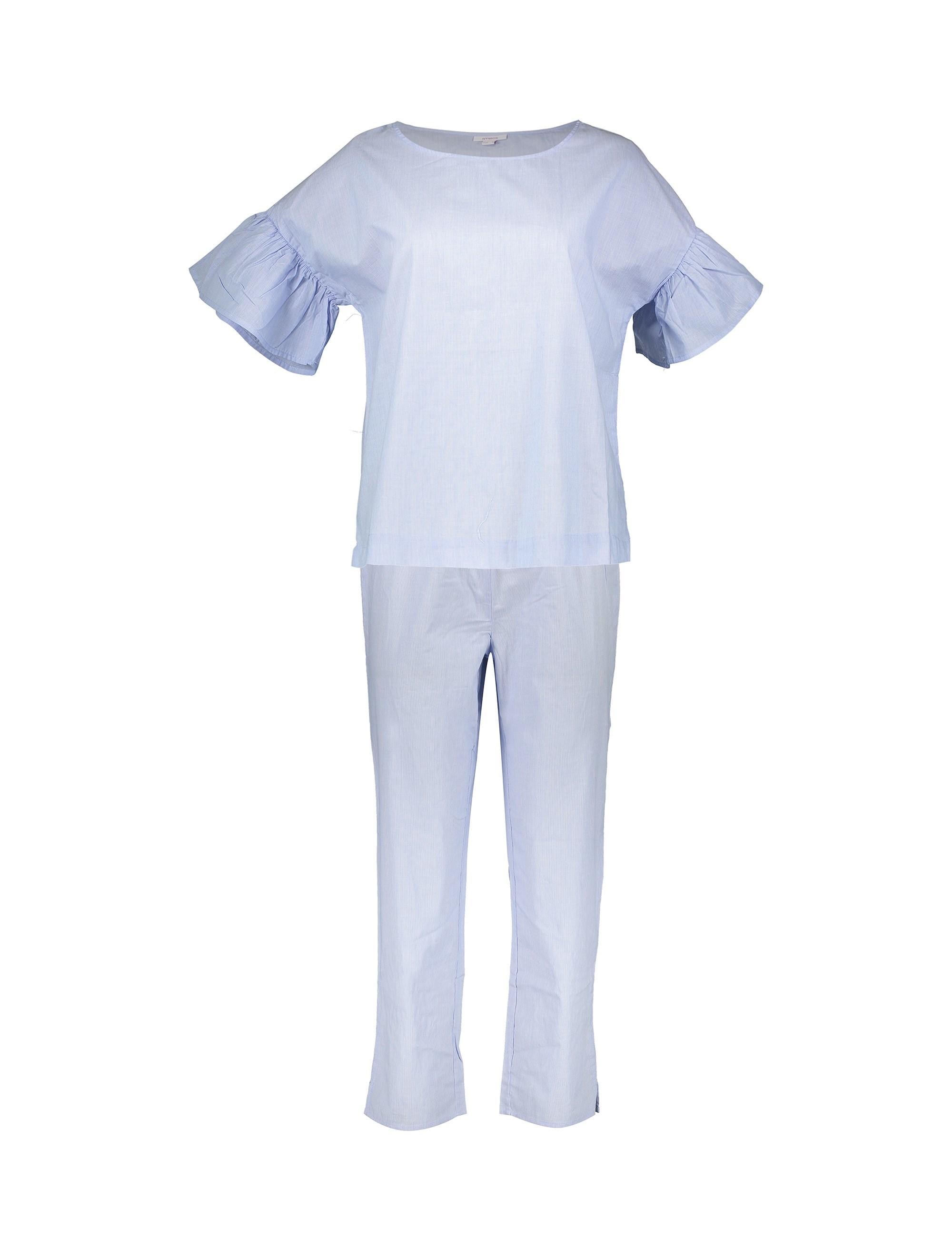 تی شرت و شلوار نخی زنانه - یوپیم              👗
