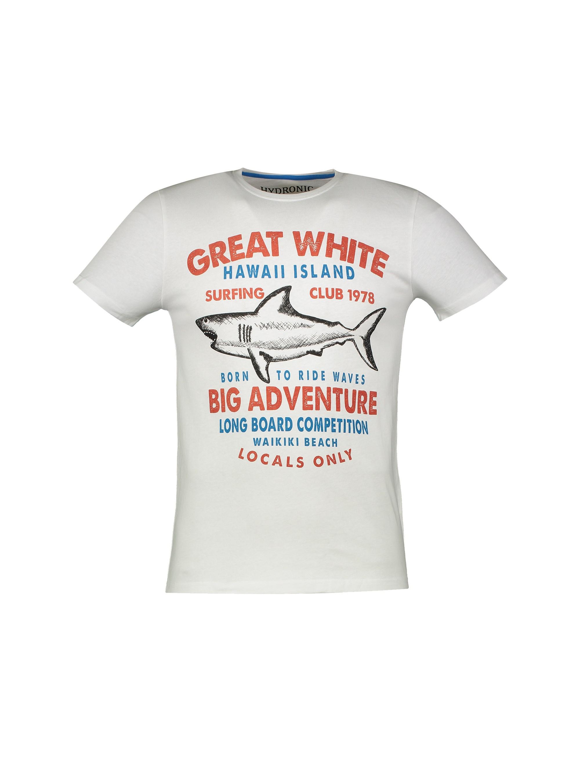 تی شرت نخی یقه گرد مردانه - یوپیم - سفيد - 1