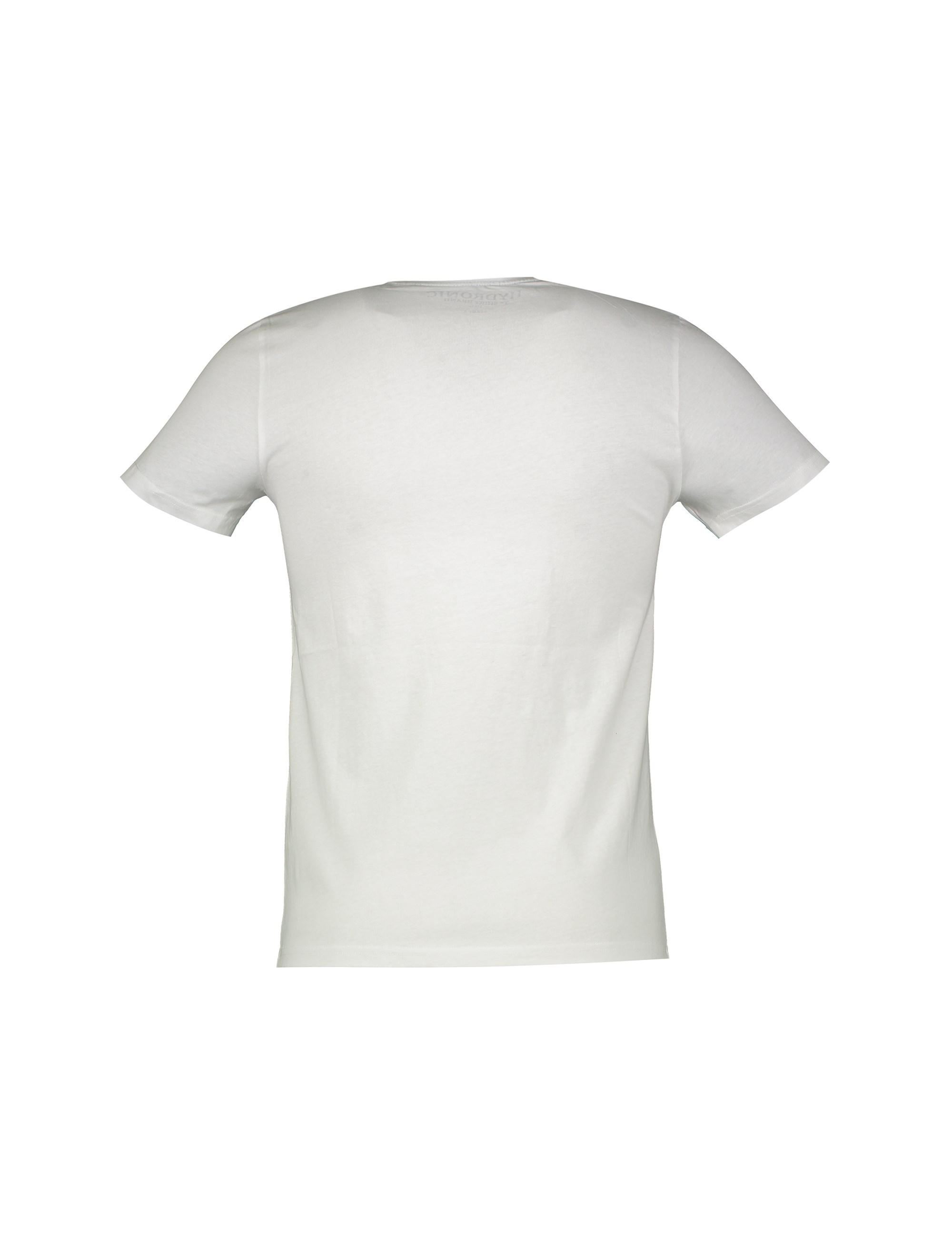 تی شرت نخی یقه گرد مردانه - یوپیم - سفيد - 2