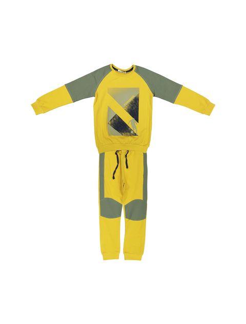 پیراهن و شلوار پسرانه - زرد - 1