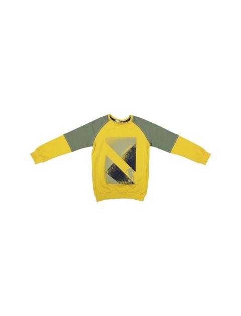 پیراهن و شلوار پسرانه - زرد - 2