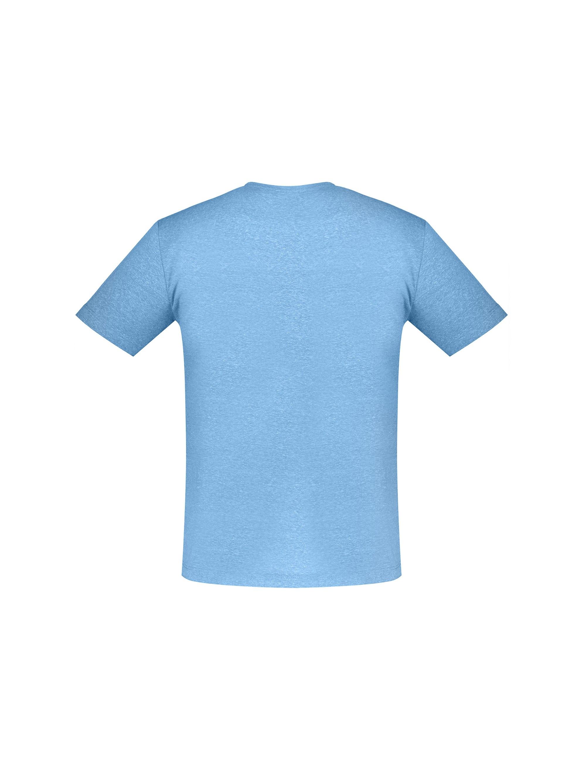 تی شرت یقه گرد مردانه - آبي - 2