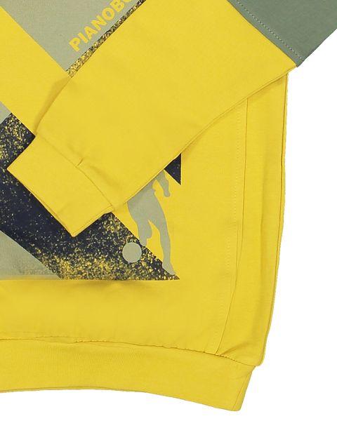 پیراهن و شلوار پسرانه - پیانو - زرد - 6
