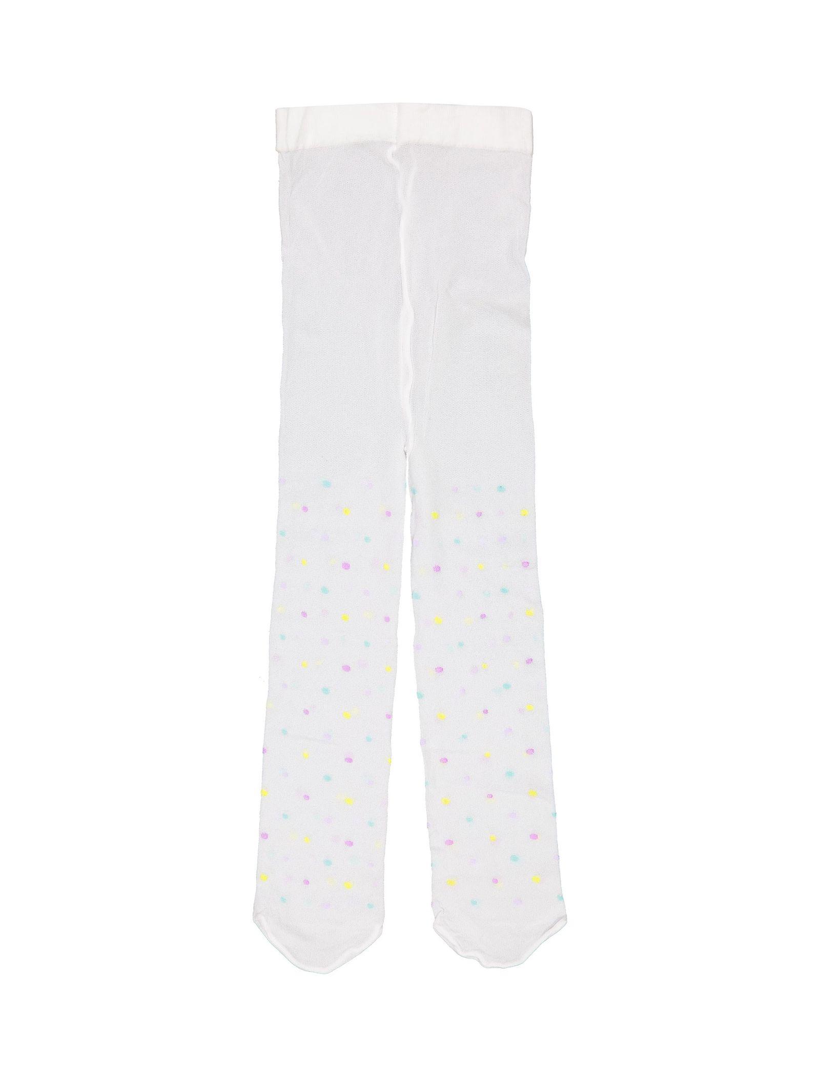 جوراب شلواری طرح دار نوزادی دخترانه - ایدکس - سفيد - 1