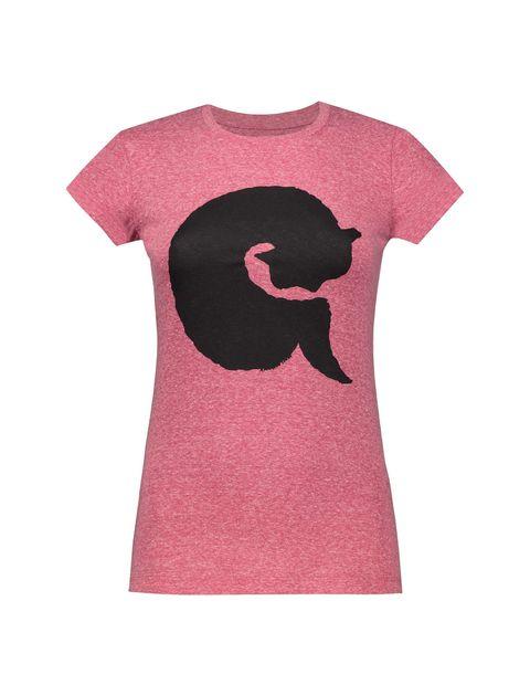تی شرت یقه گرد زنانه - متی - قرمز - 1