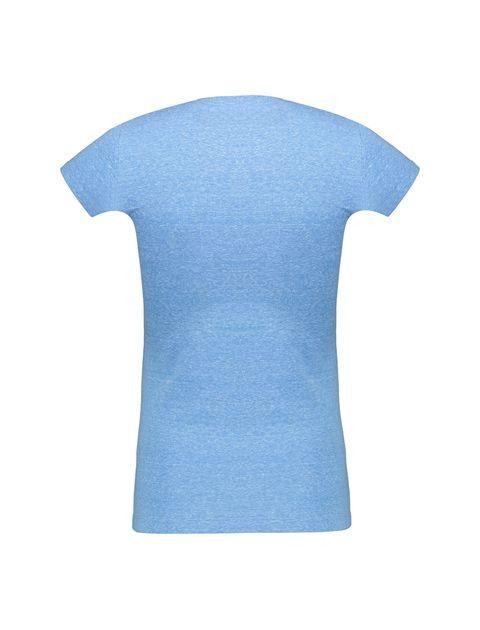 تی شرت یقه گرد زنانه - آبي - 2