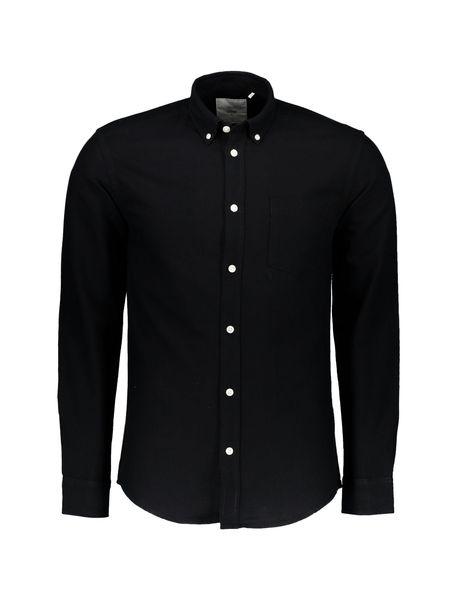 پیراهن نخی آستین بلند مردانه Jay 2.0 - مشکي - 1