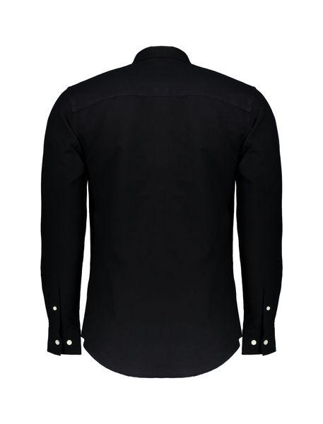 پیراهن نخی آستین بلند مردانه Jay 2.0 - مشکي - 2