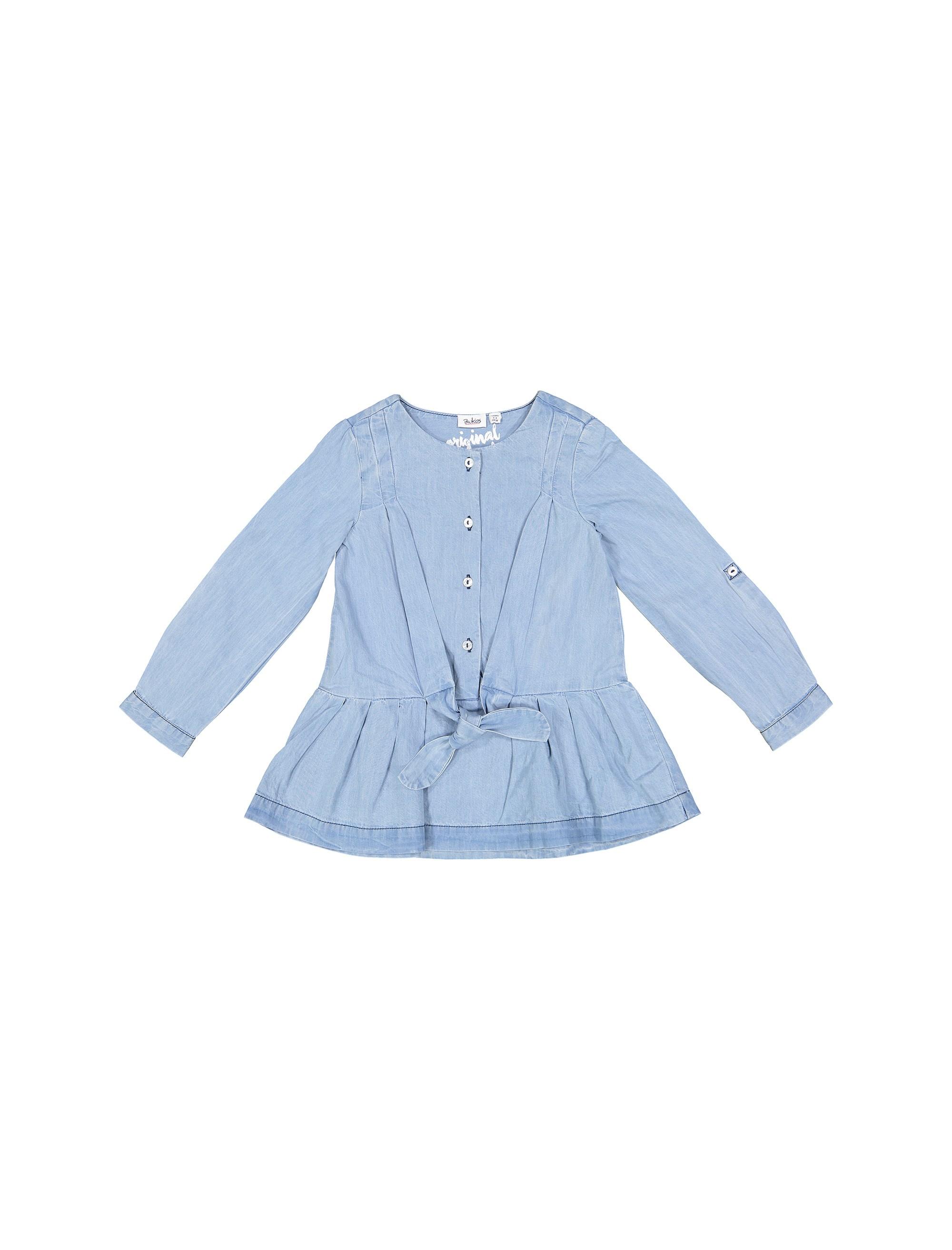 پیراهن نخی روزمره دخترانه - بلوکیدز - آبي روشن - 1