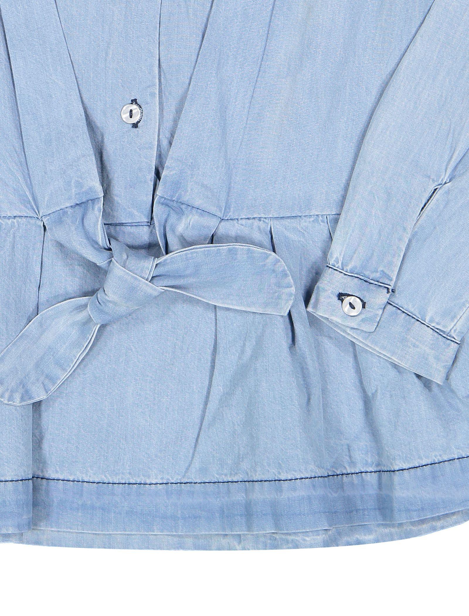 پیراهن نخی روزمره دخترانه - بلوکیدز - آبي روشن - 3
