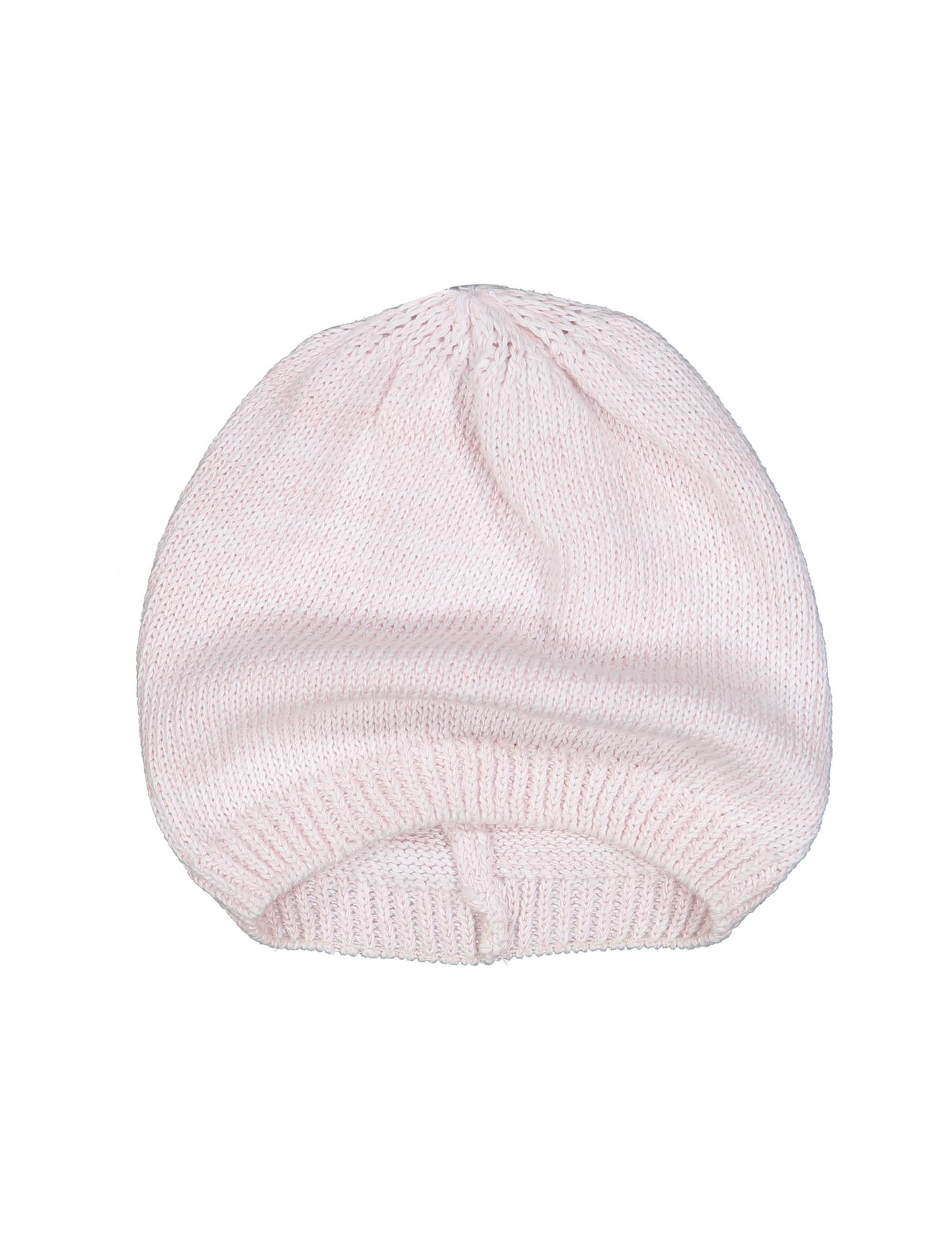 کلاه نخی ساده نوزادی دخترانه