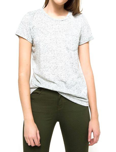 تی شرت یقه گرد زنانه - طوسي روشن  - 1