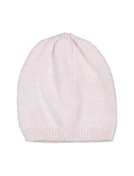 کلاه نخی ساده نوزادی دخترانه - صورتي - 2