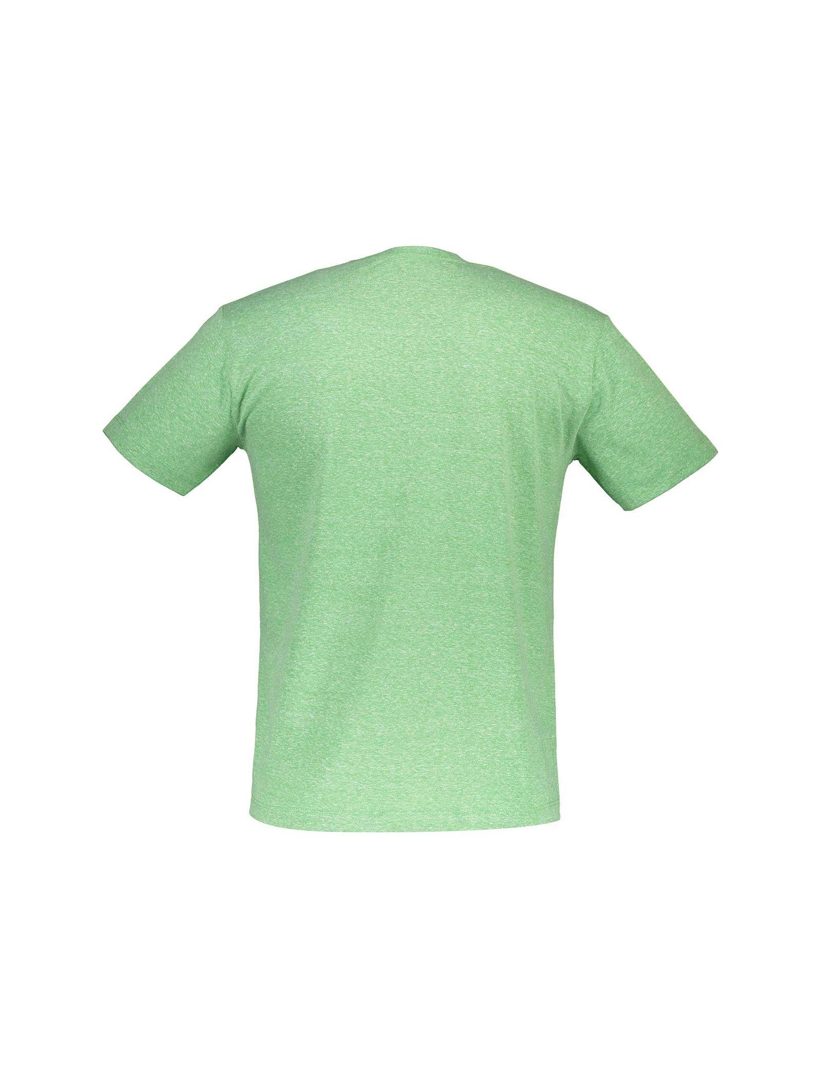 تی شرت یقه گرد مردانه - متی - سبز - 2
