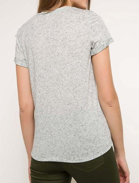 تی شرت یقه گرد زنانه - طوسي روشن  - 2