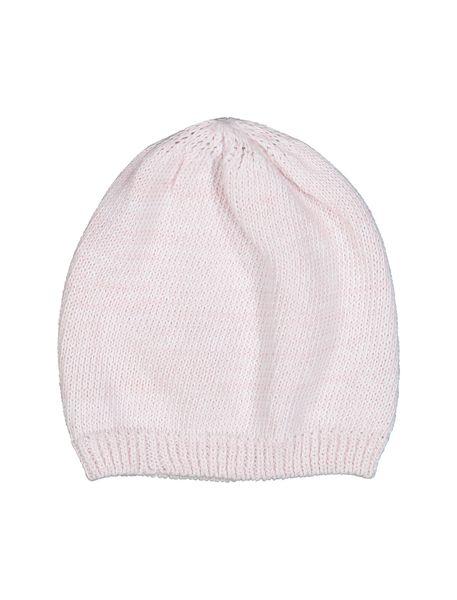 کلاه نخی ساده نوزادی دخترانه - صورتي - 3