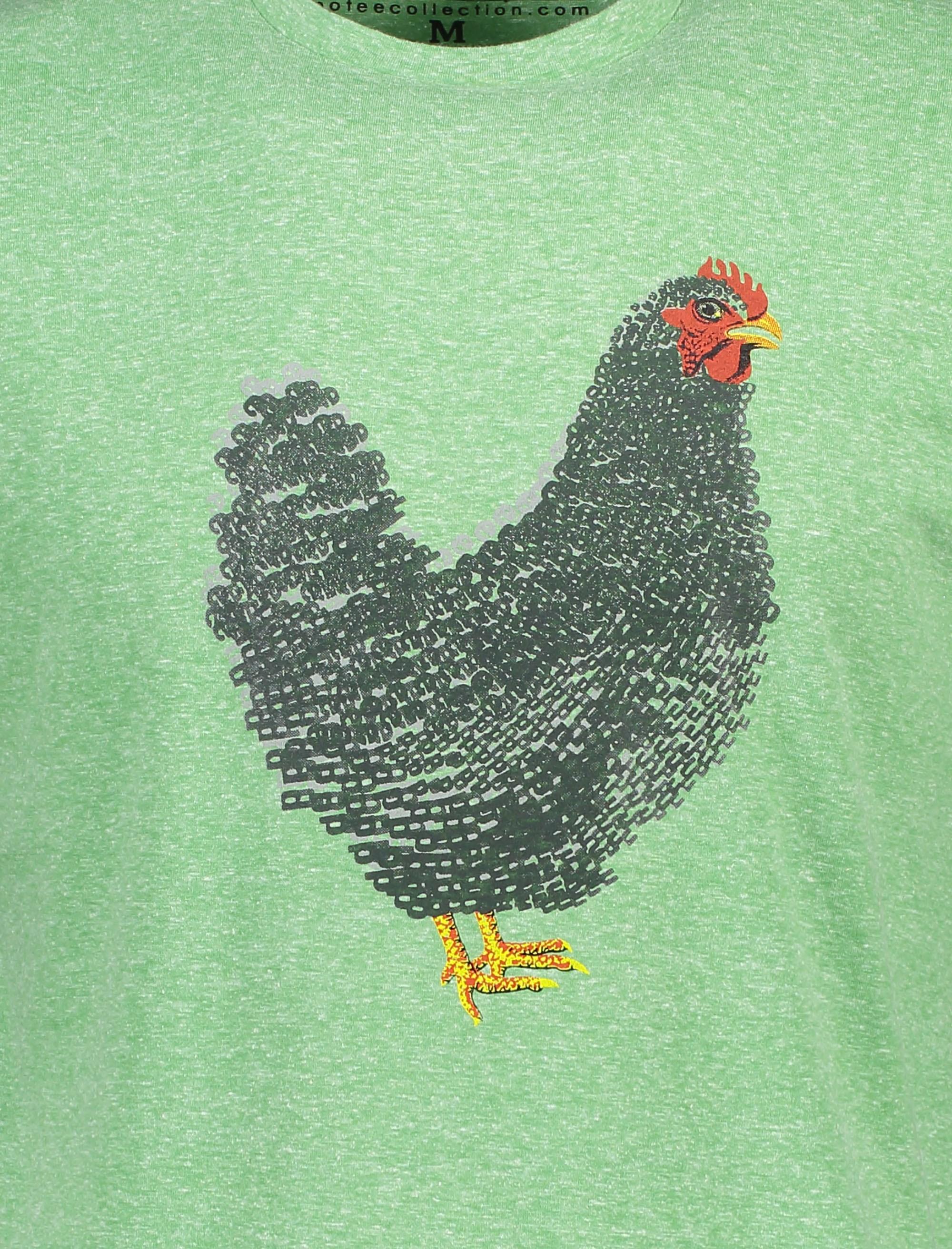 تی شرت یقه گرد مردانه - متی - سبز - 5