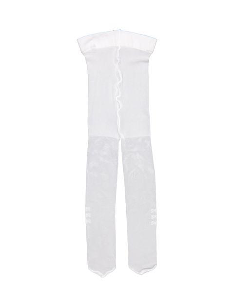 جوراب شلواری ساده نوزادی دخترانه - سفيد - 1