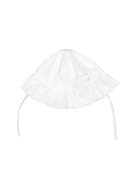 کلاه نخی ساده نوزادی دخترانه - سفيد - 1