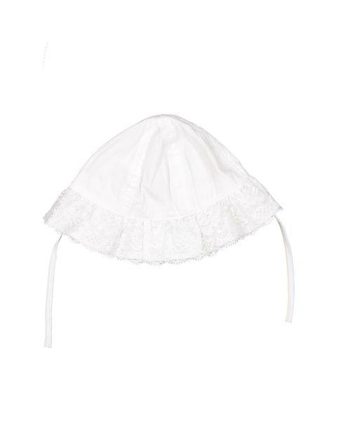 کلاه نخی ساده نوزادی دخترانه - سفيد - 2
