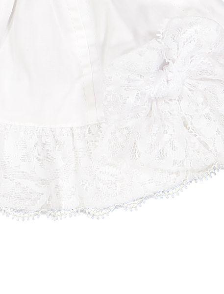 کلاه نخی ساده نوزادی دخترانه - سفيد - 3