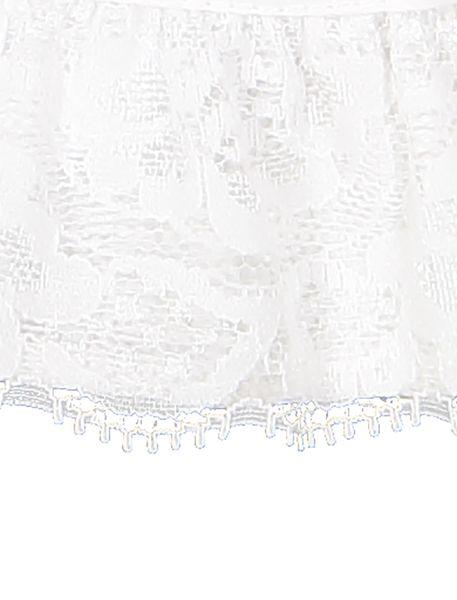کلاه نخی ساده نوزادی دخترانه - سفيد - 4