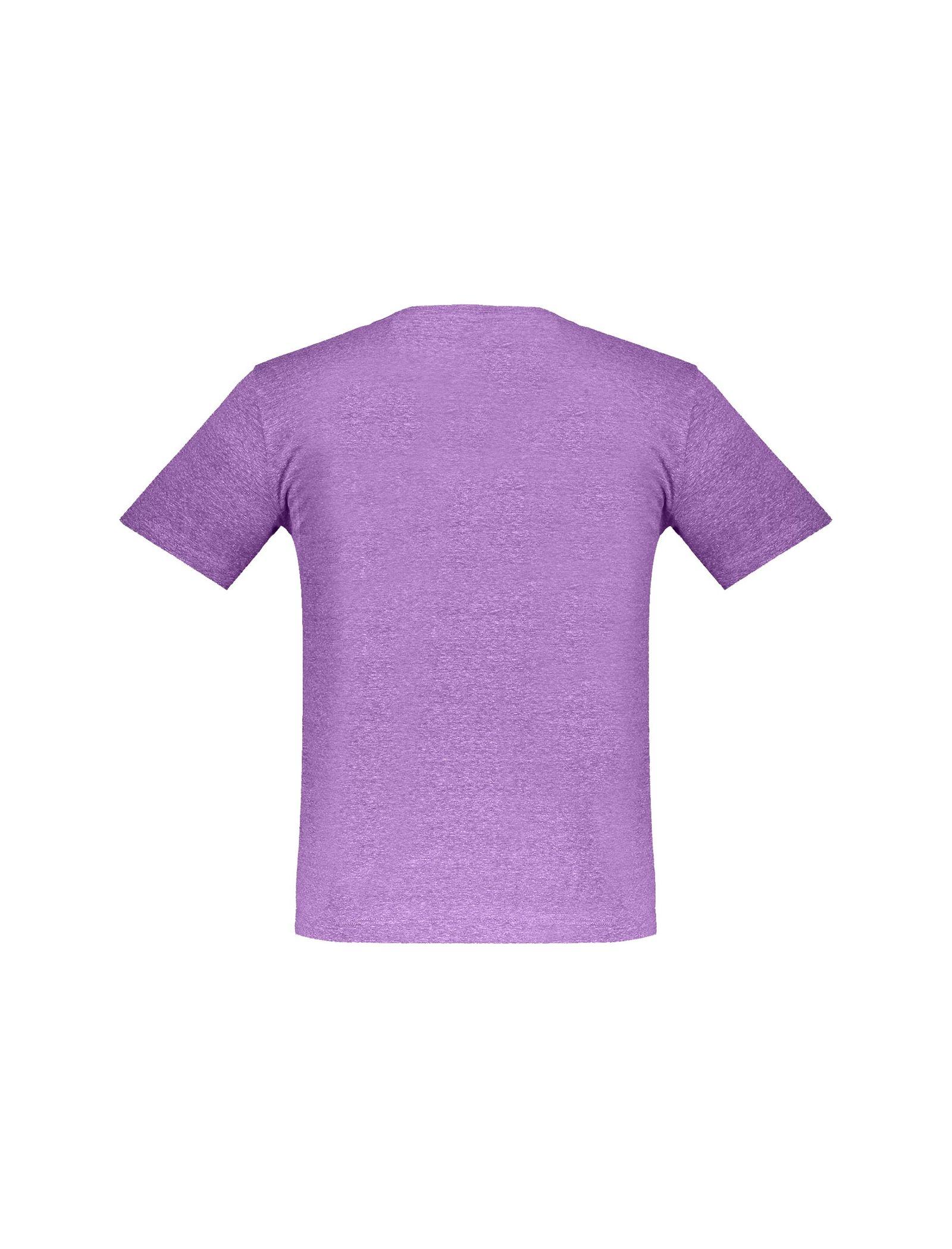 تی شرت یقه گرد مردانه - متی - بنفش - 3