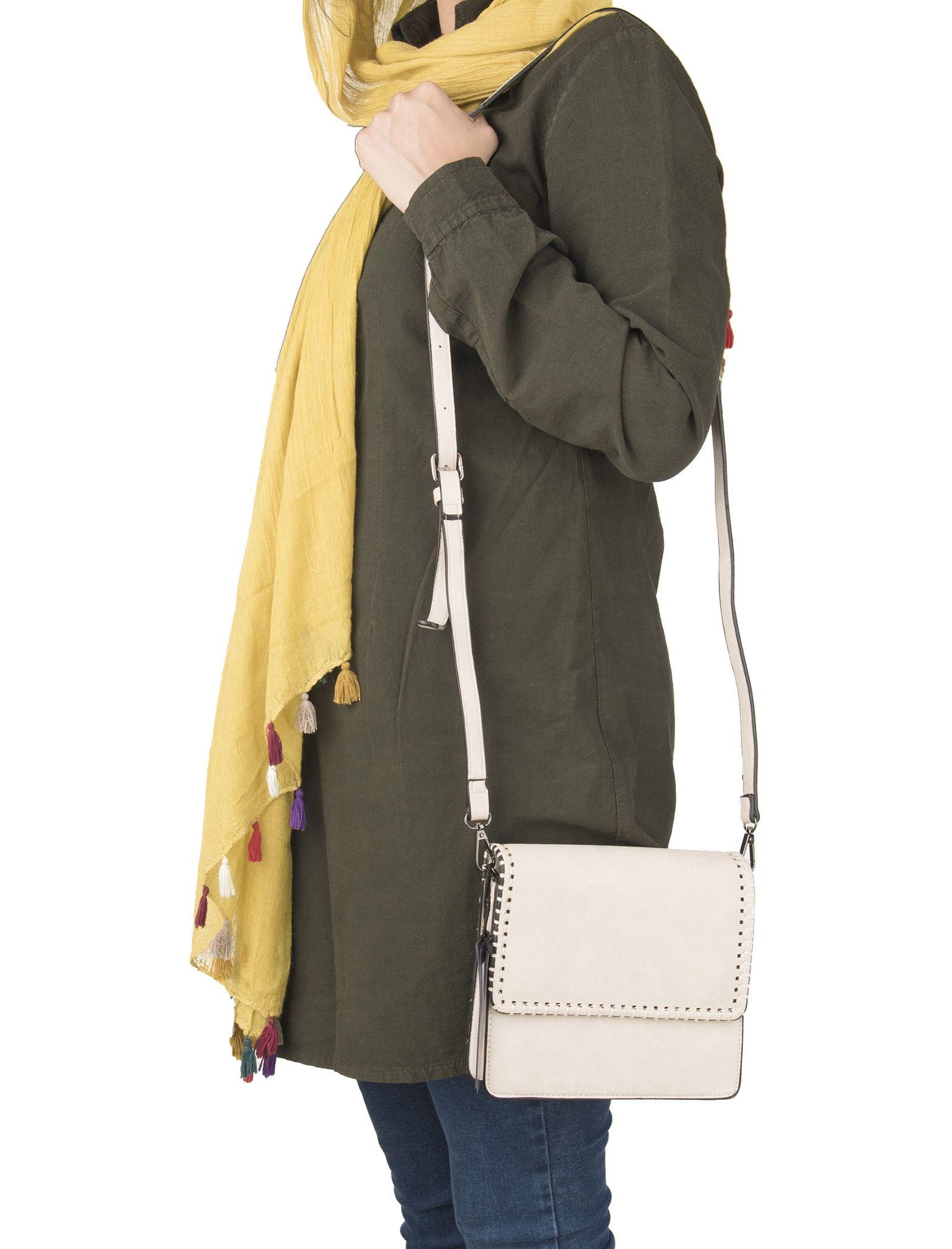 کیف دوشی روزمره زنانه - جانی اند جانی تک سایز - بژ - 4