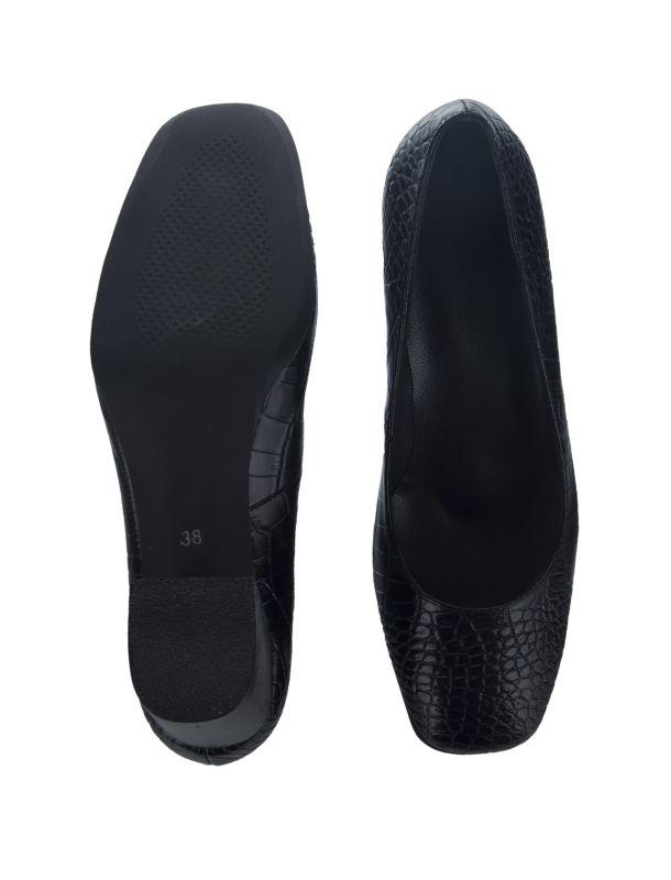 کفش پاشنه بلند چرم زنانه - پاتن چرم