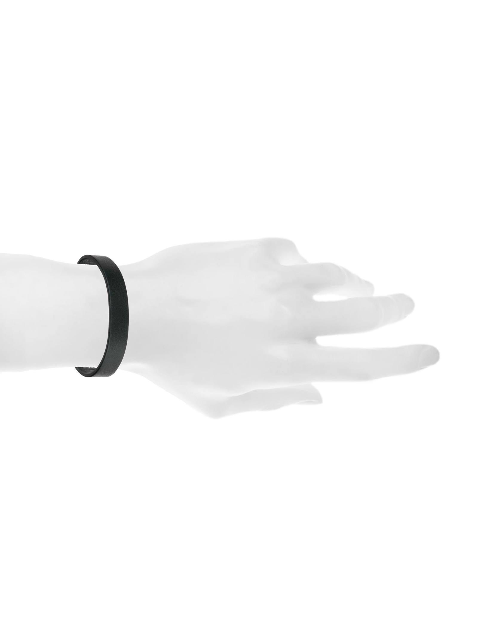 دستبند چرم بزرگسال - عالیخان سایز S - مشکي - 4