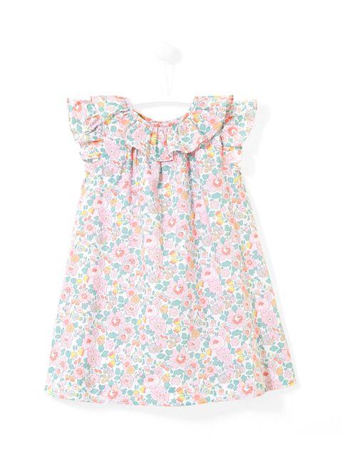 پیراهن نخی نوزادی دخترانه Lamente - چند رنگ - 1