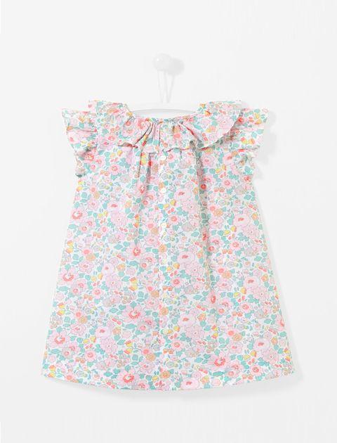 پیراهن نخی نوزادی دخترانه Lamente - چند رنگ - 2