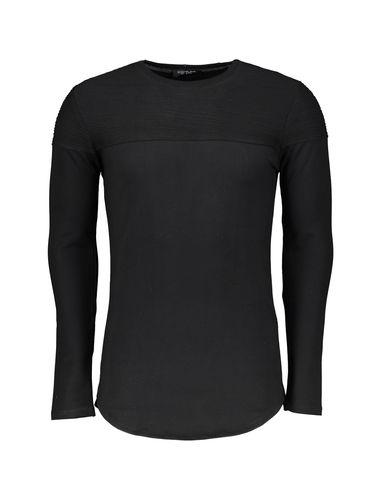 تی شرت نخی یقه گرد مردانه - کروم