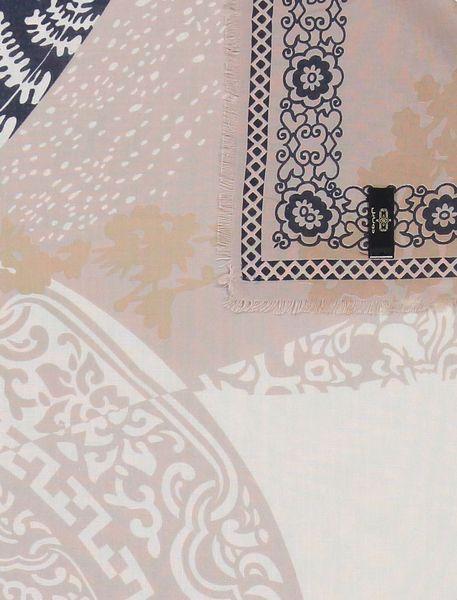 روسری نخی زنانه - کرم/سرمه اي - 2