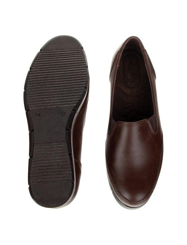 کفش چرم لژ دار زنانه - شیفر